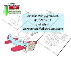 Workshop Blueprints Airplane Whirligig Downloadable Scrollsaw Woodworking Plan Pdf