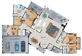 Luxury Floor Plans With Pictures by Interior Custom Luxury Home Floor Plans Pertaining To Top Lake