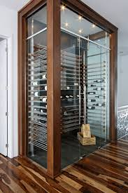 glass wine cellar in the living room 3 contemporary wine