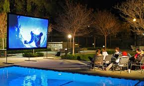 Backyard Projector Screen by Yard Master Projection Screens Groupon Goods