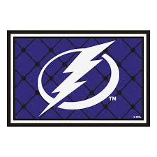 Nhl Area Rugs Fanmats Ta Bay Lightning 5 Ft X 8 Ft Area Rug 10556 The