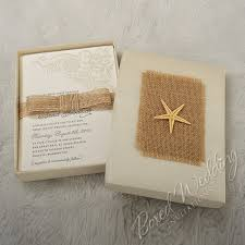 wedding invitations box starfish destination wedding invitation box