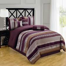 Duvet Cover Purple 7 Piece Nature Inspired Claudia Purple Comforter Sets