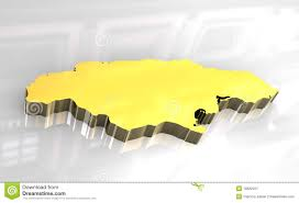 Map Jamaica 3d Golden Map Of Jamaica Stock Image Image 10822221