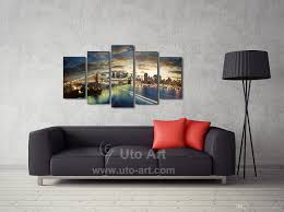 Painting Home Decor by 2017 Home Decor Canvas 5 Panel Wall Art Painting Manhattan