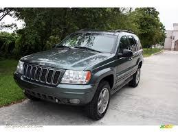 light green jeep cherokee 2002 jeep grand cherokee overland 4x4 in onyx green pearlcoat