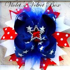 fourth of july hair bows 4th of july hair bow hair bow white and blue spike