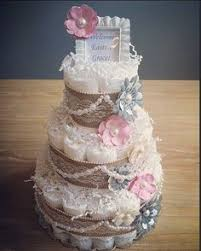 Shabby Chic Baby Shower Cakes by 3 Tier Shabby Chic Diaper Cake Mint Coral Gold Peach Pink Diaper