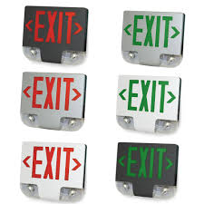 exit emergency light combo die cast aluminum led exit sign emergency combo choose red or