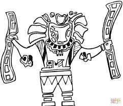 aztec art coloring page free printable coloring pages