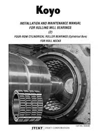 b3003e installation u0026 maintenance rolling mill bearings