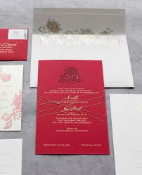 Red Wedding Invitations Something Different Red Gold And Shiny Foil Invitations Tiny