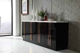 kingsley modern marble u0026 rosegold buffet