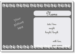 birth announcement templates to print online with your photo for