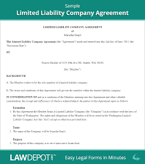 Limited Power Of Attorney For Sale Of Real Estate by Llc Operating Agreement Free Llc Operating Agreement Template