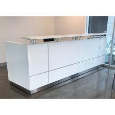 White Gloss Reception Desk Hugo Plus Reception Desk Gloss White