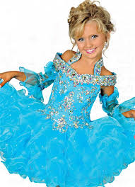 puffy short turquoise organza ruffle beaded pageant prom dress