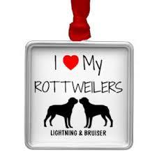 i my rottweiler ornaments keepsake ornaments zazzle