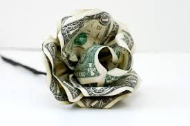 money flowers paper flower from dollar bills