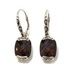 smoky quartz earrings bali designs by robert manse 10 20ctw smoky quartz sterling silver