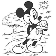 mickey color pages vitlt