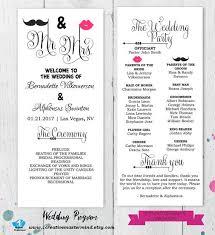 Fun Wedding Programs Templates 22 Best Diy Wedding Program Templates Images On Pinterest