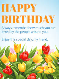 birthday cards for friends enjoy this special day happy birthday wishes card for friends