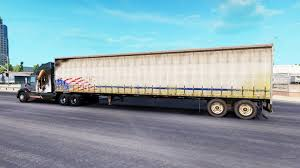 semi trailer truck curtain semi trailer for american truck simulator