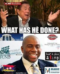 Magic Johnson Meme - what has magic johnson done 7 charities sorrydonaldsterling