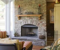 Stone Fireplace Mantel Shelf Designs by Interior Chic Design Ideas Using Brown Bricks And Rectangular