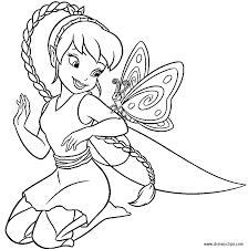 beautiful fairy coloring pages cartoon printable butterfly