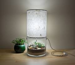 terrarium table lamps with handmade paper lampshade home design