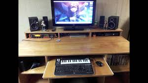 Music Studio Desk Plans by Homemade Recording Studio Desk Tv Stand With Led Lights Youtube