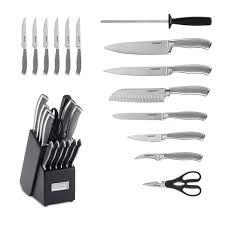 cuisinart kitchen knives cuisinart 15 graphix knife block set williams sonoma