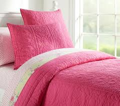 Solid Pink Comforter Twin Whitney Quilt Pottery Barn Kids