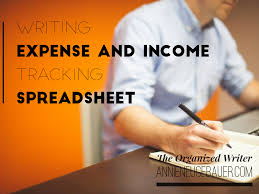 Track My Spending Spreadsheet Writing Expense And Income Tracking Spreadsheet Annie Neugebauer