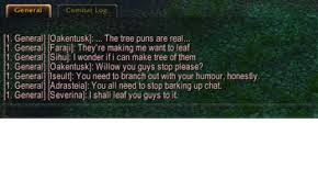 Tree Puns General Combat Log 1 General Oakentusk The Tree Puns Are Real 1
