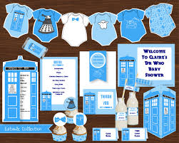 printable dr who baby show collection blue creative little parties