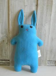 blue stuffed bunny plush toy bunny plush gift for girls gift
