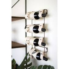 canvas and metal wall mounted wine rack