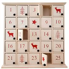 advent calendar white wooden nordic advent calendar box partyware essentials