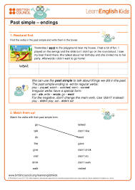 past simple worksheets 1