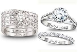 engraving on engagement ring engagement ring and wedding band engraving nj
