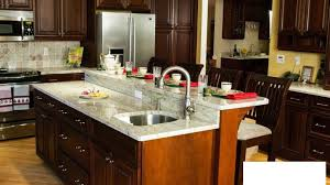 Decorative Thermoplastic Panels Granite Countertop Cherry Oak Cabinets Kitchen Decorative