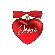 jesus heart of christmas ornament the catholic company