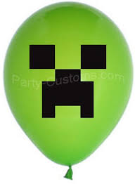 minecraft balloons 1 dozen 12 inch party balloons mcc party stop novelty on