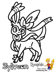 pokemon sylveon coloring pages getcoloringpages