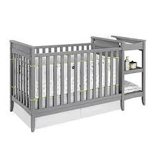dorel emma gray 2 in 1 crib and changing table combo