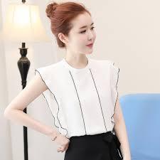sleeveless ruffle blouse sleeveless ruffle blouse tops 2017 fashion stand collar