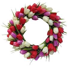 tulip wreath tulip wreath 80 beautiful wreaths you can buy online